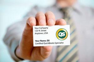 QuickBooks Specialist Business Card