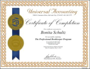 The Professional Bookkeeper Certificate