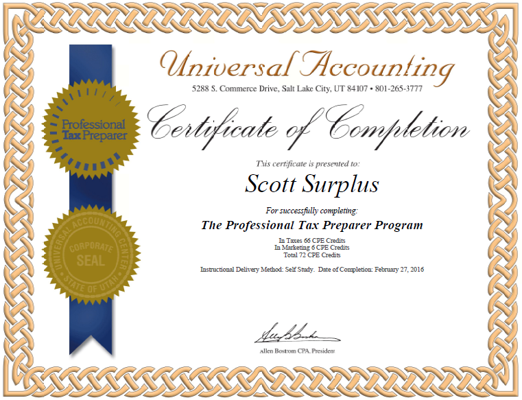tax certified preparer professional getting certificate irs approved successful practice build own accounting qas