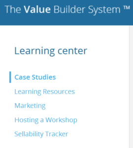 Value Builder Certification Benefits, learning-center